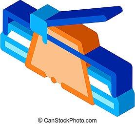 isométrico, vector, icono de cuchillo, ilustración, masilla