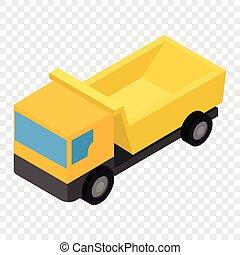 isométrique, 3d, camion, icône