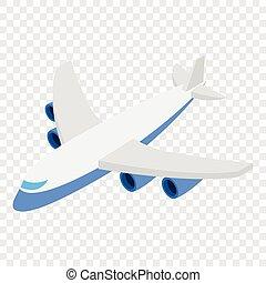 isométrique, avion, 3d, icône