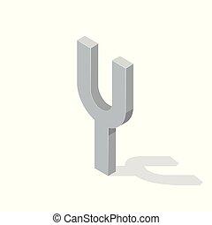 isométrique, camerton, isolé, illustration, arrière-plan., vecteur, blanc