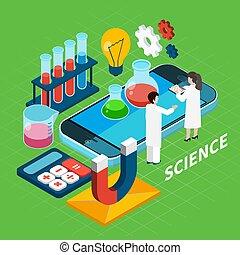 isométrique, concept, chimie