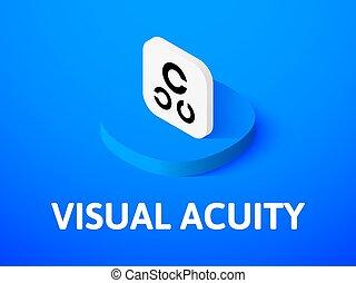 isométrique, couleur, isolé, visuel, fond, icône, acuité