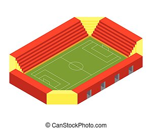 isométrique, football, stade