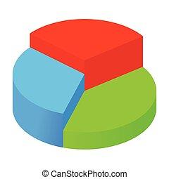 isométrique, graphique circulaire, icône