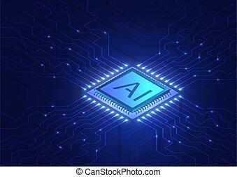 isométrique, intelligence, artificiel