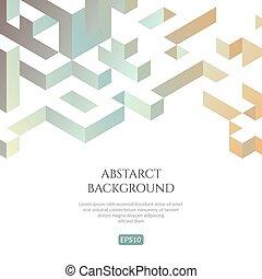 isométrique, tridimensionnel, illusion, fond, abstact, style., image.