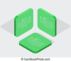 isometric, ícones, app, modernos, 3, vetorial