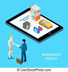 isometric , άνθρωποι , σπίτι , concept., online , - , ασφάλεια , ακολουθία , χρήματα , insurance., ασφάλεια , ιατρικός , αυτοκίνητο