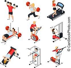 isometric , θέτω , γυμναστήριο