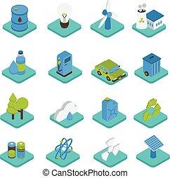 isometric , οικολογία , απεικόνιση