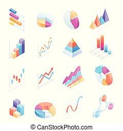 isometric , στοιχεία , απεικόνιση , μικροβιοφορέας , infographics, illustrations.