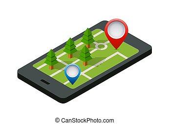 Isometric 3D navigation