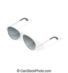Isometric 3d vector illustration of aviator glasses.