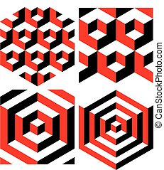 isometric, abstract, pattern., achtergrond., vector, geometrisch
