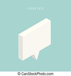 isometric Abstract speech bubble . Vector illustration