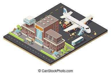 Isometric Air Logistics Concept