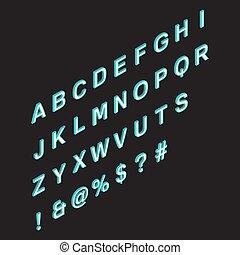 Isometric alphabet.3d