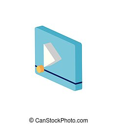 Isometric and isolated play icon vector design