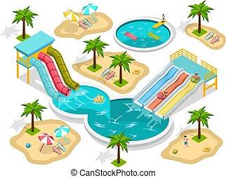 aqua park clipart vector and illustration 847 aqua park clip art rh canstockphoto com water park ride clipart