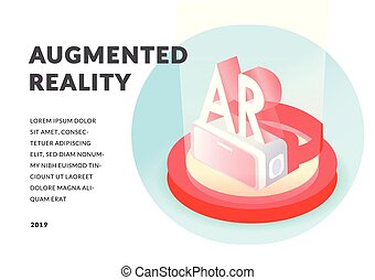 Isometric augmented virtual reality concept