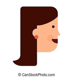 isometric avatar isolated icon design