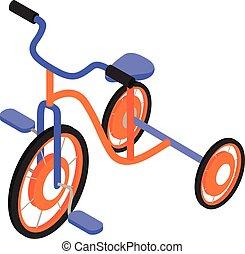 Isometric Bicycle Illustration