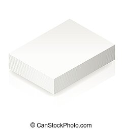 Isometric blank paper stack