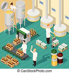 Isometric Brewery Background
