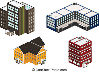 Isometric building set