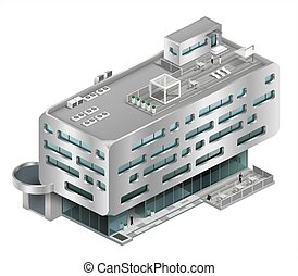 Isometric building shopping Mall