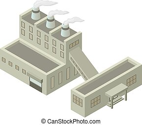 Isometric building vector illustration