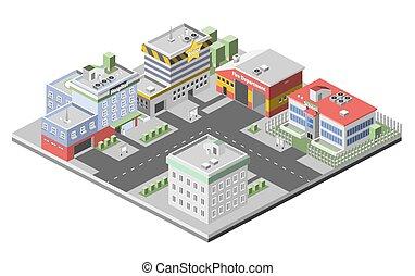 Isometric Buildings Concept