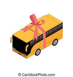 Isometric bus with ribbon