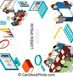 Isometric Business And Finance Concept