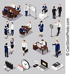 Isometric Business Meettings Set