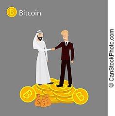 Isometric businessman investor