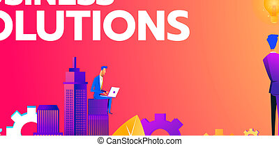 Isometric businessman standing on unlock lock , business solution, key to success and teamwork concept