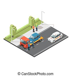 Isometric Car Evacuating Service Composition