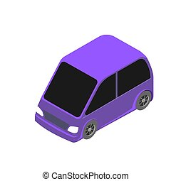 Isometric car icon. 3d vector illustration isolated on white background.
