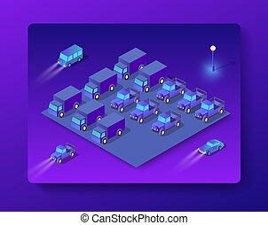 Isometric cars set