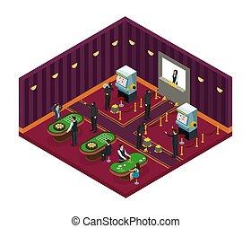 Isometric Casino Robbery Concept