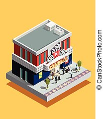 Isometric Cinema Illustration