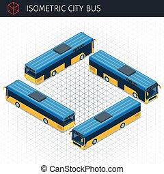 Isometric city bus