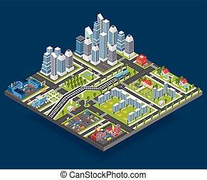 Isometric City Illustration