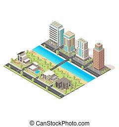 Isometric City Landscape Template