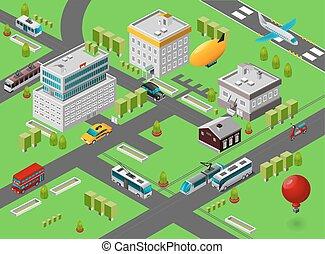 Isometric City Street