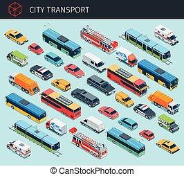 Isometric city transport