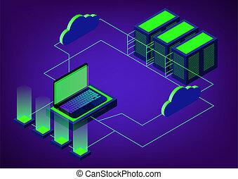 isometric cloud storage