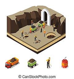 Isometric Coal Extraction Concept