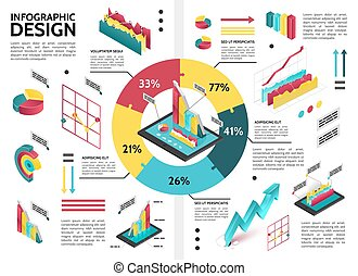 Isometric Colorful Business Infographic Template